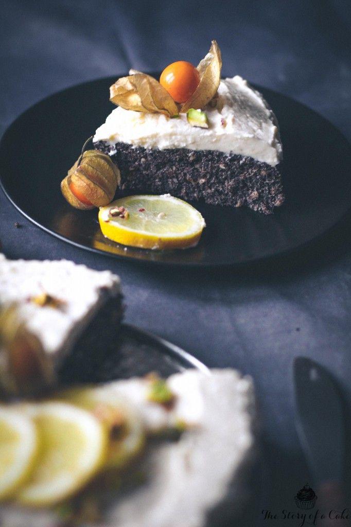 Maková torta s citrónovým krémom (bez múky a bez cukru) | The Story of a Cake