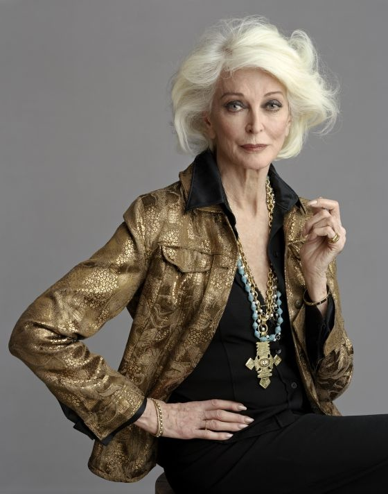 I wish every woman in her 84 to look like Carmen Dell'Orefice. In today's post I want to introduce to you one gorgeous model, who's name is Carmen Dell'Orefice Carmen Dell'orefice, Mature Fashion, Look Fashion, Fashion Wear, Street Fashion, Mode Ab 50, Lady, Haircut For Older Women, Outfits Mujer