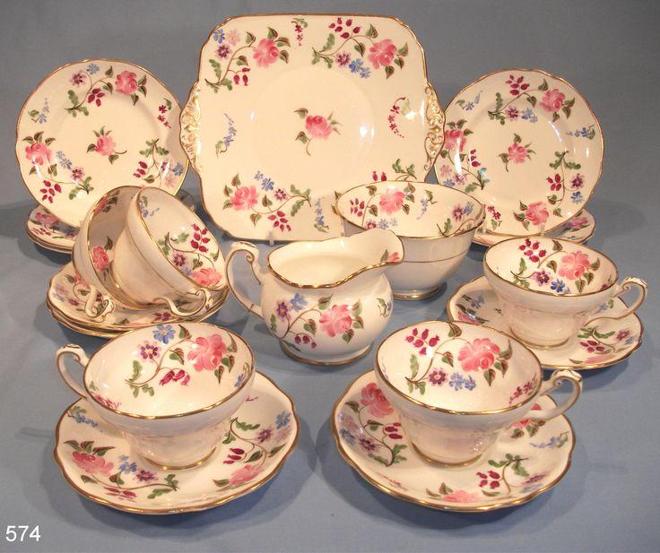 18-piece Victorian Tea Set Hand-Painted – Sold