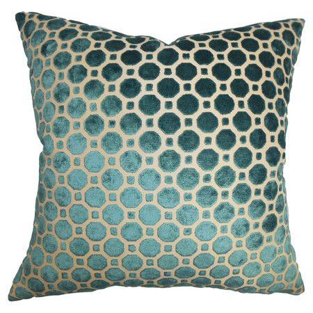Anna Velvet Pillow in Turquoise