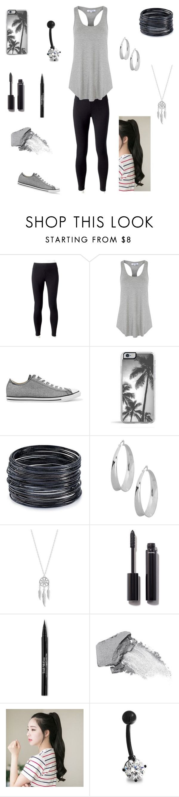 """Comfy but Cute"" by boredandlazy on Polyvore featuring Jockey, Glamorous, Converse, Zero Gravity, ABS by Allen Schwartz, Robert Lee Morris, Lucky Brand, Chanel, Trish McEvoy and Urban Decay"
