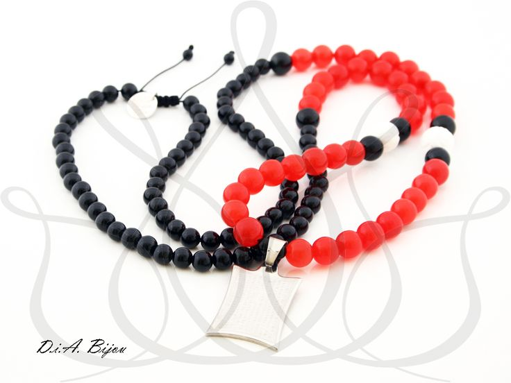 "Necklace ""Men in Red""  http://dia-bracelets.com/neclace%20/neclace-male/neclace-man-in-red"