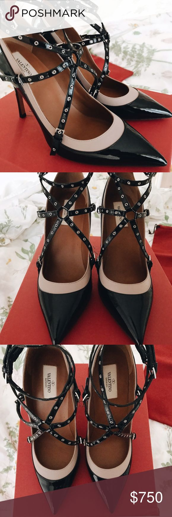 Valentino LoveLatch Stilettos!! Brand New!!! Brand New 100% Authentic! Comes with box/dustbag/authenticity tag! These are a 41 but this particular shoe runs very small!! Will best fit a 9.5/10 so listed as such!! Never Worn Valentino Shoes Heels