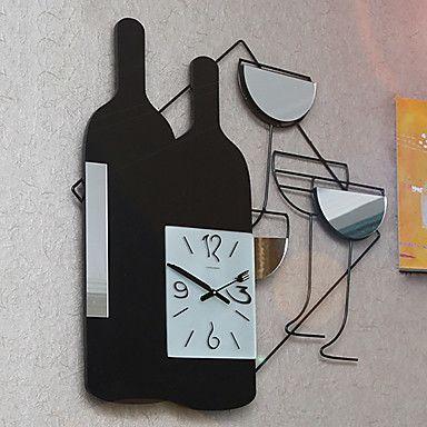 "24""H Modern Style Metal Wall Clock – USD $ 79.99"
