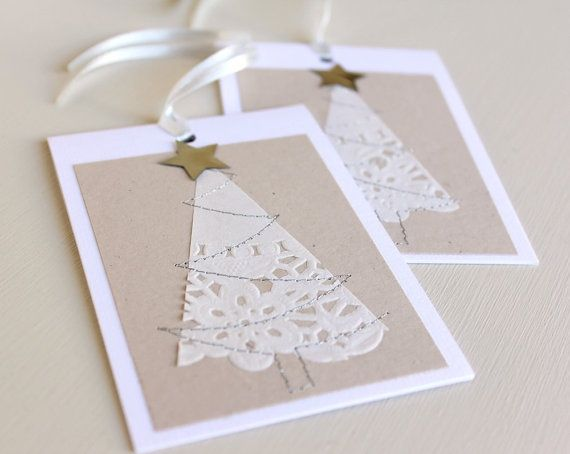 Tarjetas decoradas con blondas de papel                                                                                                                                                     Más