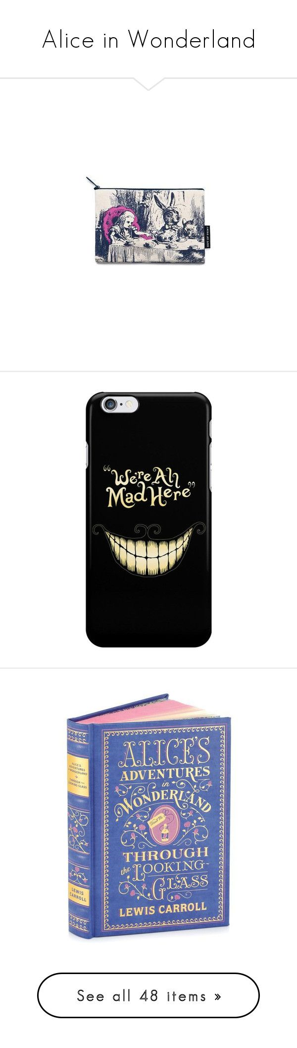 """""""Alice in Wonderland"""" by stacy-just-stacy ❤ liked on Polyvore featuring home, kitchen & dining, drinkware, yellow mugs, accessories, tech accessories, phone cases, phone, phones/phone cases and books"""
