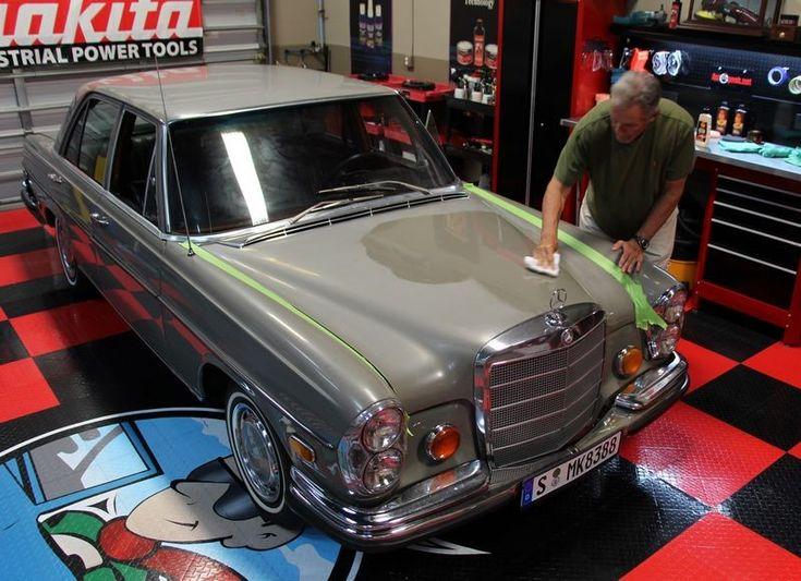 4 steps to restore single paint paint 1972 mercedes benz 280 se auto geek. Black Bedroom Furniture Sets. Home Design Ideas