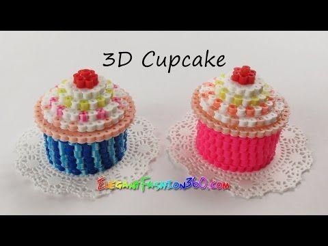 DIY Perler/Hama Beads Cupcake 3D - How to Tutorial by Elegant Fashion 360 - YouTube