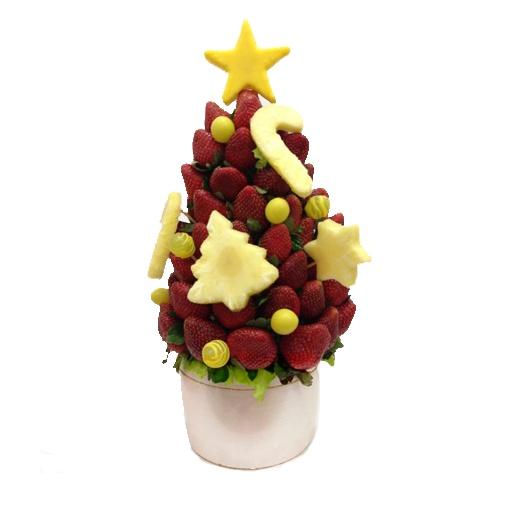 """Ramo """"Feliz Navidad""""   Ramo grande para 10-15 personas   Fresas, piña y uvas + 2 extras a elegir   50 €uros   @Fruristería"""