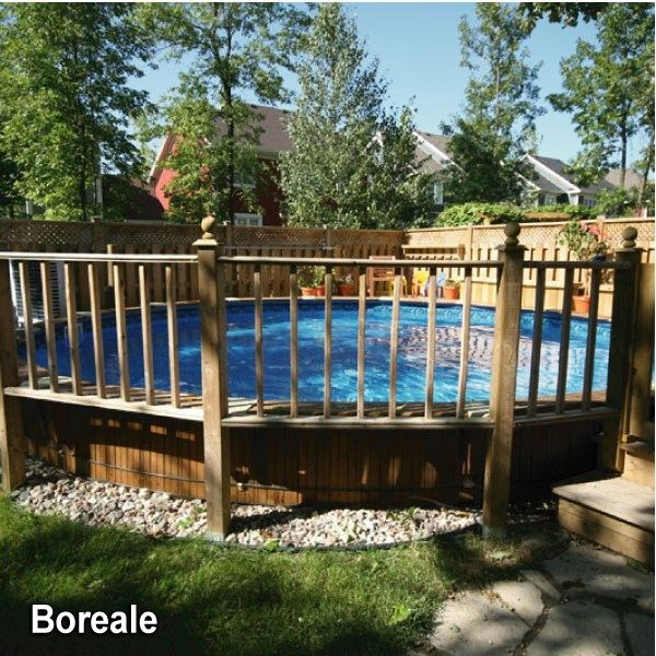 Cloture piscine hors terre exterieur pinterest for Barriere piscine plexiglass