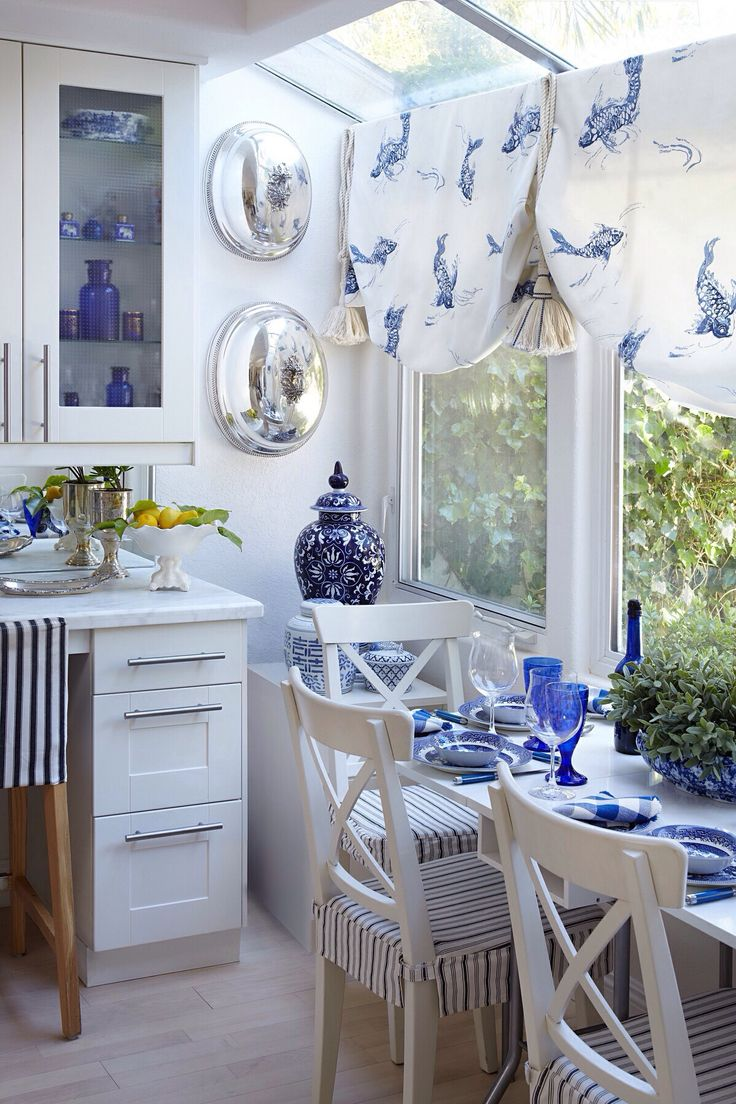 gingham dining room chair covers stryker 5050 stretcher parts pretty little nook ! | decoracion azul y blanco,