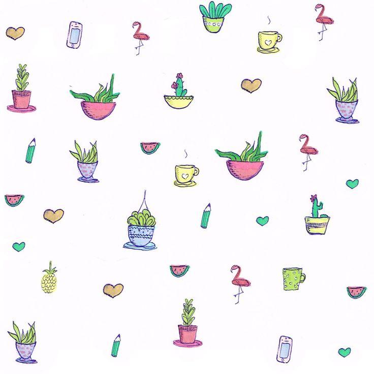 cactus pattern paper - Free printable + digital paper