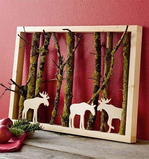 Sie holt sich einige Äste aus dem Wald und gestaltet hiermit tolle Herbst- und Winterdekorationen. - DIY Bastelideen