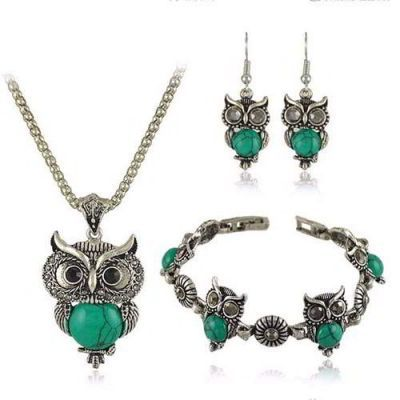 Owl Shape Decorated Simple Design Green