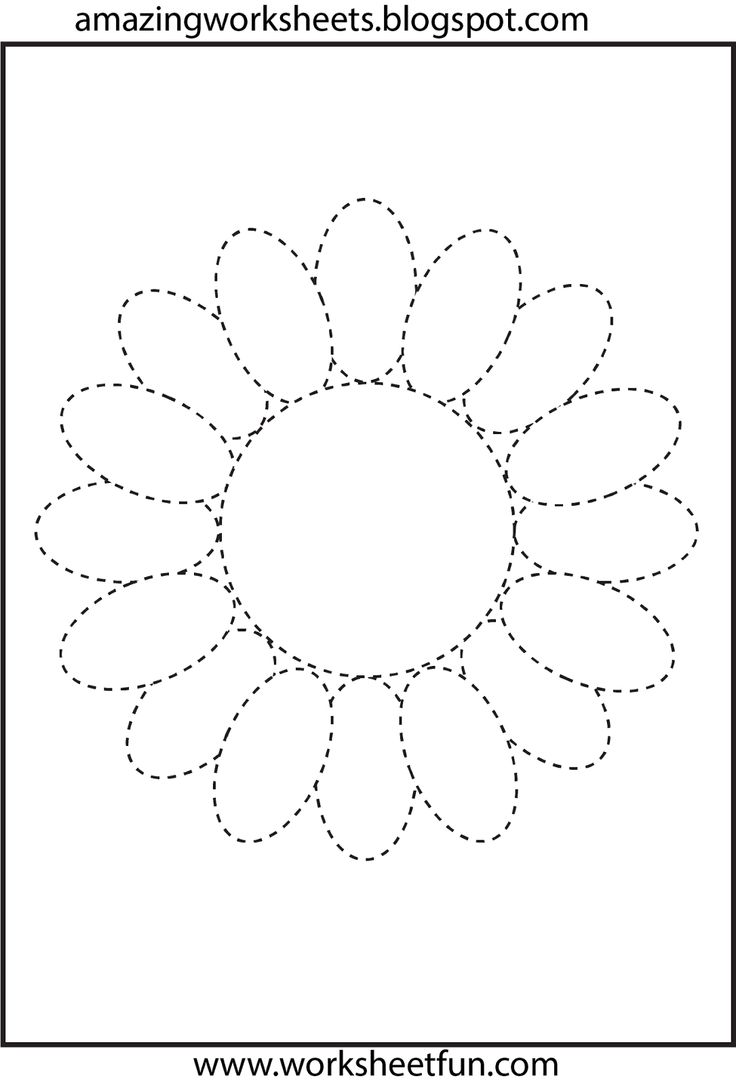 Letter Tracing Print Outs | Flower tracing - Download