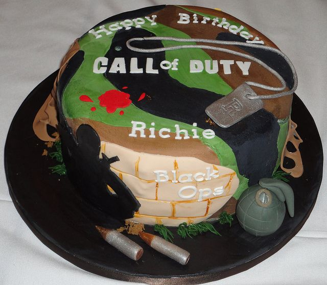 Call to duty black ops cakes   call of duty black ops cake i made this cake for my little brother ...