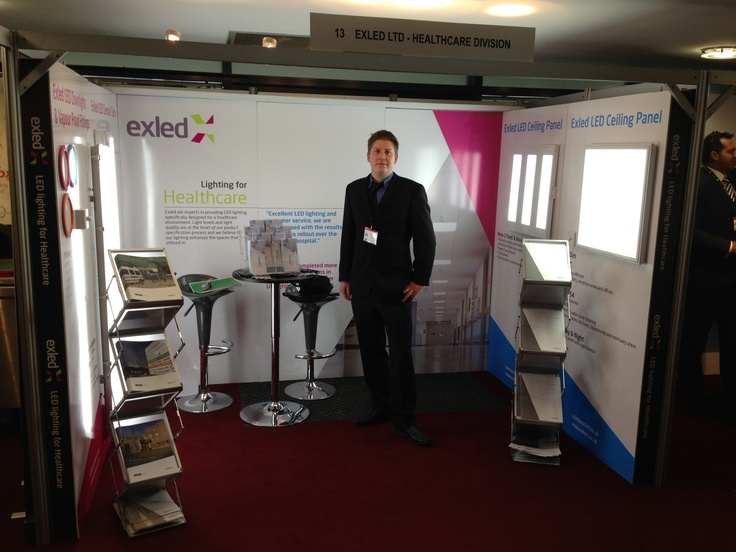 HefmA 2013 Healthcare Conference and Exhibition. The Exled exhibition stand at the show. Come along and meet the healthcare LED lighting team and discuss your estates requirements.