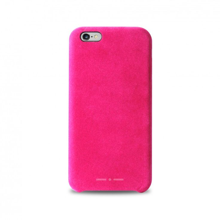 Cover #Velvet per iPhone 6 e 6 plus. Raffinato effetto velluto sul dorso e ai lati, claim inciso all'interno.