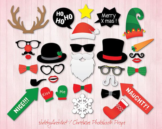 21 best my own photobooth props images on pinterest birthdays christmas photobooth props digital instant download santa claus deer xmas xmas party photo booth prop diy solutioingenieria Images