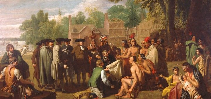 William Penn's treaty with the Lenape by Benjamin West.