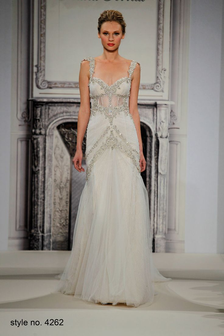 2015 Spring Sweetheart Neckline Spaghetti Straps Bling Crystals Bohemain Tulle Wedding Dresses Backless Beach Sheer Bridal Gowns Online