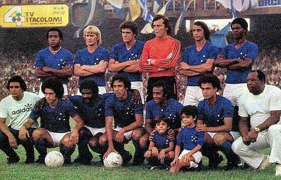 Cruzeiro of Brazil team group in 1977.