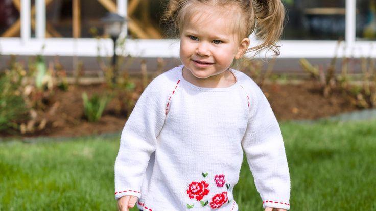 Sticka tröja till barn – gratis mönster