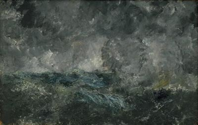Statens Museum for Kunst: August Strindberg: Storm in the Skerries. 'The Flying Dutchman'