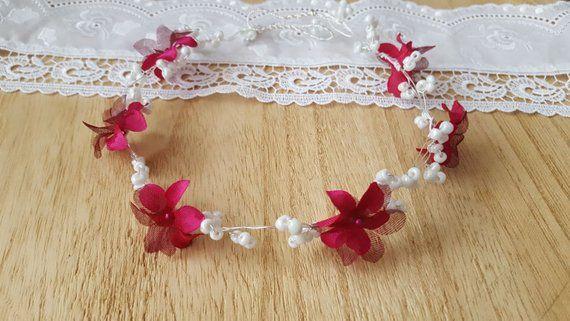 Haarschmuck Hochzeit Kopfschmuck Haareif Glasperlen Kunstliche Blumen Brautschmuck Kommunion Blumenmadchen Abiball Haarschmuck Hochzeit Haarschmuck Und Haarschmuck Braut