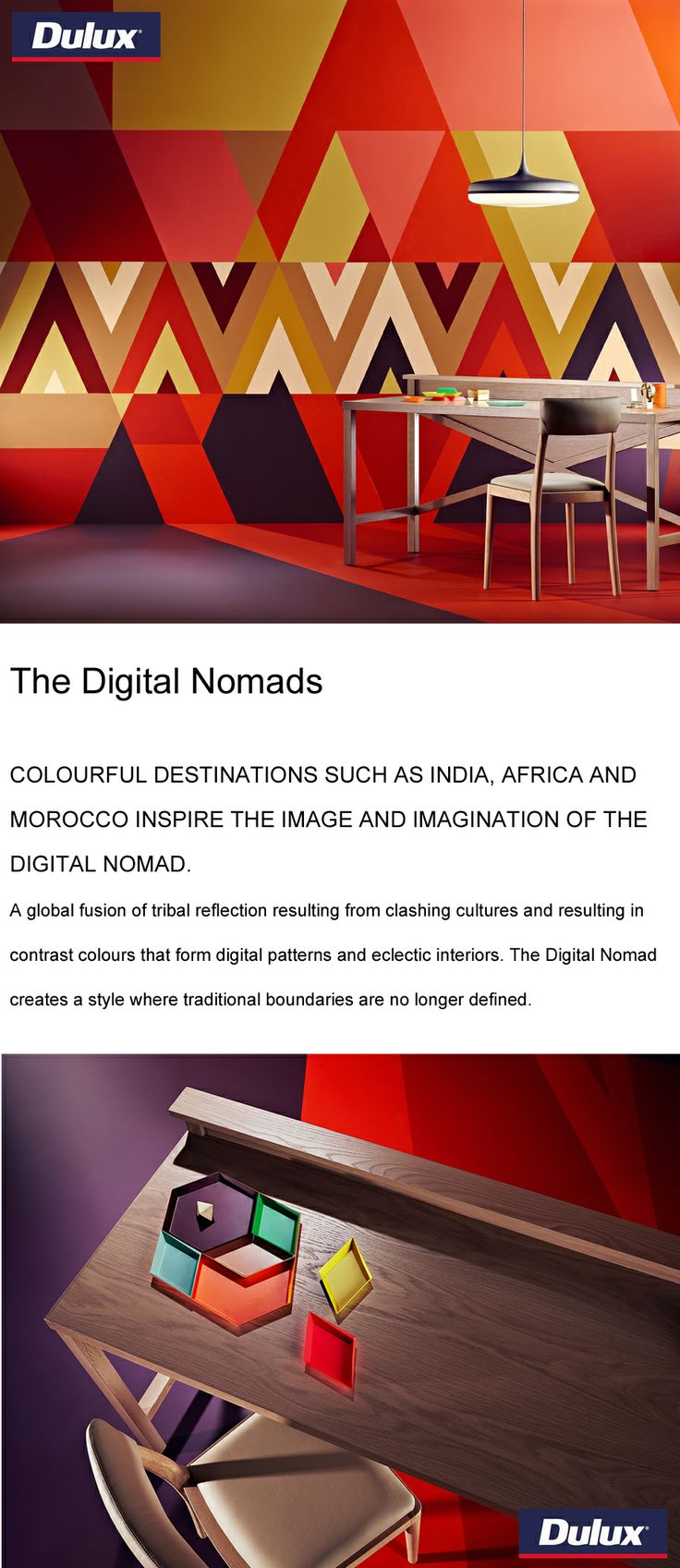 """The Digital Nomads"" colour forecast from Dulux for 2014.   www.lahood.co.nz"