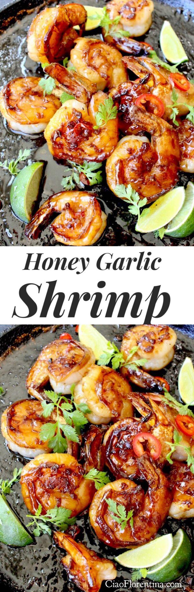 Honey Garlic Shrimp, Easy and Quick ready in just 10 minutes | CiaoFlorentina.com @CiaoFlorentina