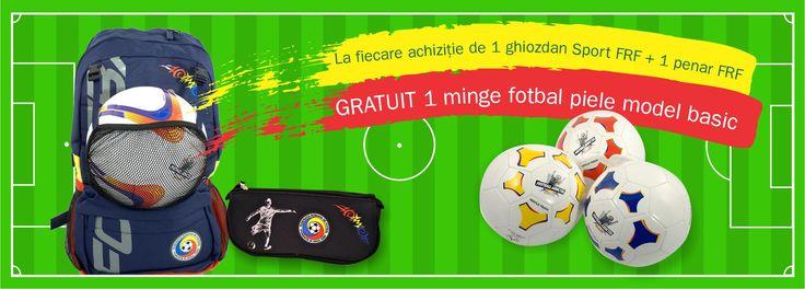 Ghiozdan gimnaziu Sport FRF negru, 2 compartimente, 2 buzunare frontale și 2 laterale + plasă detașabilă suport