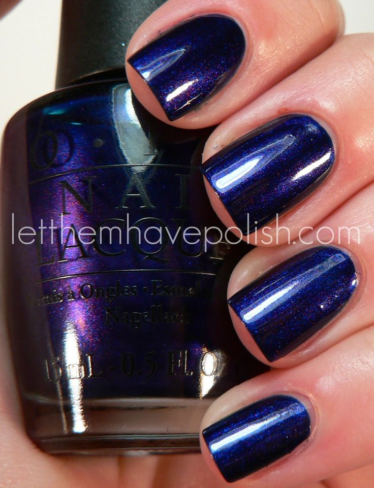 Let them have Polish!: O.P.I Russian NavyBeautiful colour! Makes me think of Essie's midnight cami!
