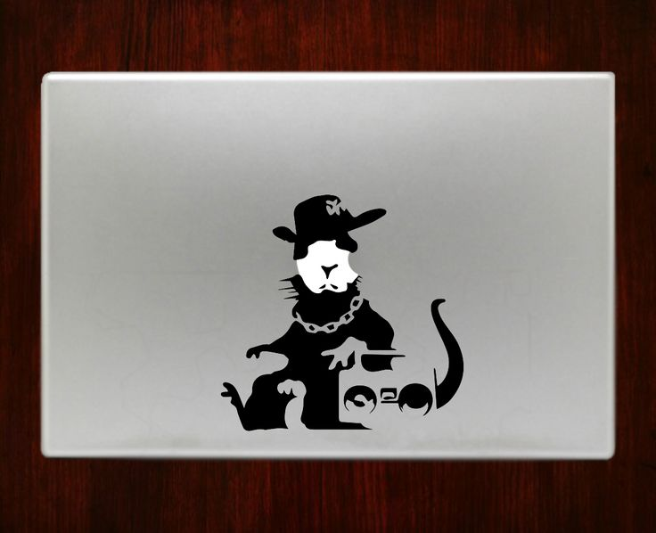 Banksyrat decal sticker vinyl for macbook pro air 13 inch 15