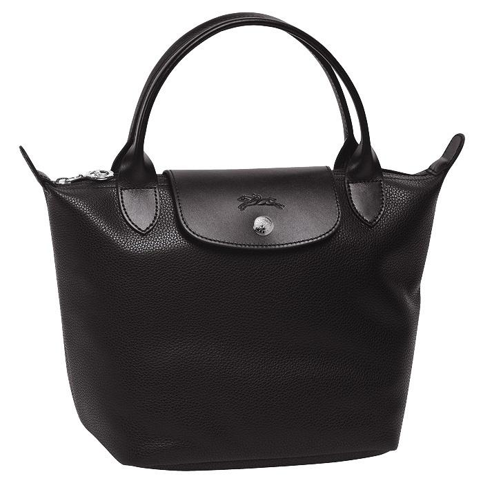Longchamp black leather