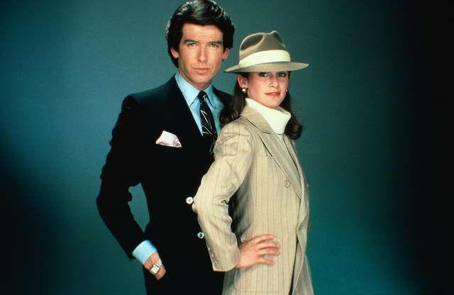 Remington Steele, geez.. the childhood TV series
