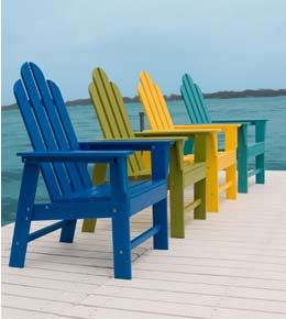 Vermont Woods Studios makes 100% Recycled PET plastic outdoor furniture