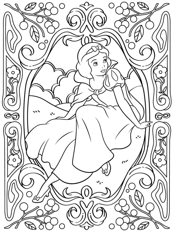 Celebrate National Coloring Book Day With Snow White PagesDisney PagesAdult PagesColoring BooksSnow DisneyFree Printable