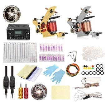 ลดราคา  WORMHOLE TATTOO Complete Kit 2 Machine Shader Liner with 20 InksPower Supply Grips Needles (UK PLUG) (Gold) - intl  ราคาเพียง  1,737 บาท  เท่านั้น คุณสมบัติ มีดังนี้ Smooth appearance, fine workmanship. The rubber bands can avoid machine vibration. Usage: plug in the power then it can work. The magnetic force back seat is strong. Power supply: 14.5 x 12.5 x 7.5cm. Needle sizes: 5RL, 3RL. Machine gun: 8 x 9 x 4cm. Tattoo nozzle tips: 5RT, 3RT.