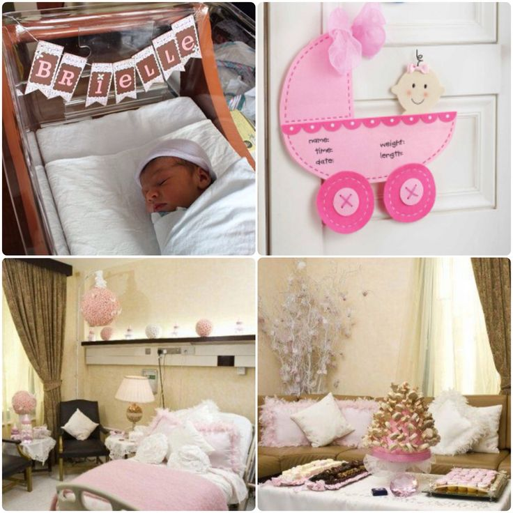 17 best images about newborn hospital room decor on for Baby welcome party decoration ideas