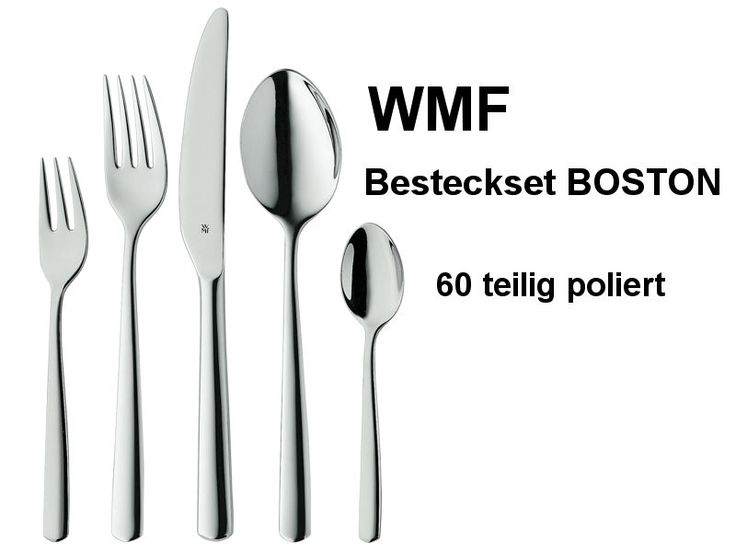 wmf besteck boston 60 teilig poliert set f r 12 personen. Black Bedroom Furniture Sets. Home Design Ideas