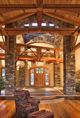 Custom stone interior.....magnificent!   http://www.arnoldmasonryandlandscape.com/services/  #Wood #Stone #House #Contractor #Georgia #Wood_Stone_House_Contractor_Georgia #WoodStoneHouseContractorGeorgia