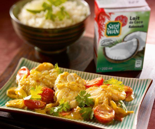 Voici une recette de Curry de lotte au lait de coco qui fera certainement fureur au nouvel an chinois !