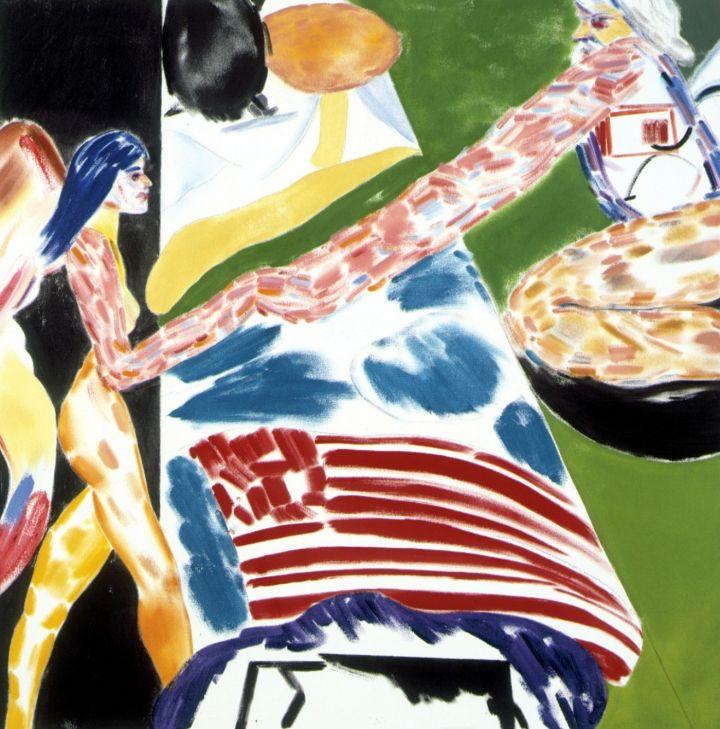 "R.B.Kitaj, ""Los Angeles No. 16 (Bed)"" (2001-02), oil on canvas, 48 x 48 inches"