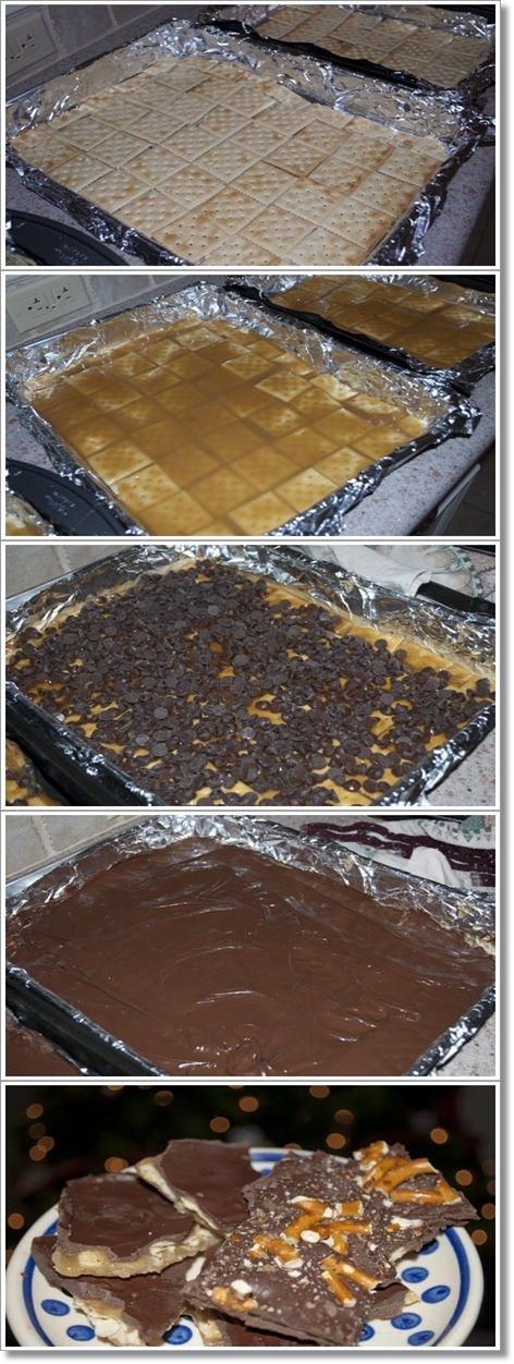 Christmas Crack - lol- I have to make this just so I can say I am serving crack!