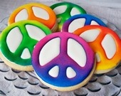 Airbrush Peace Symbol Cookie