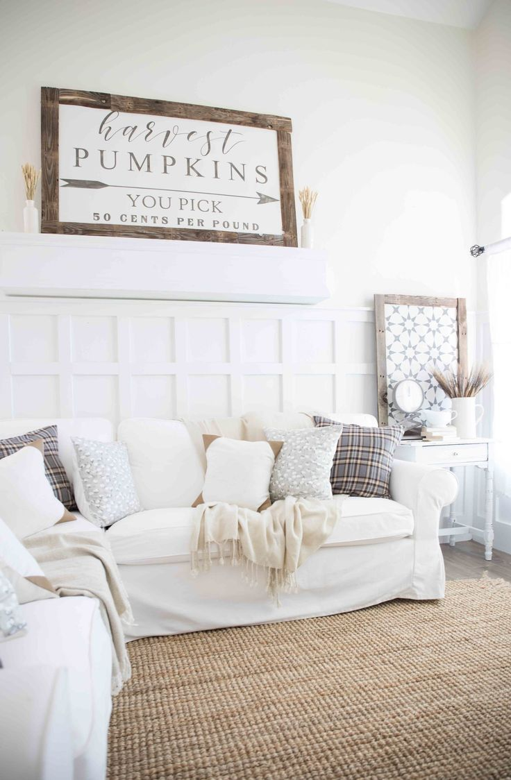 Fall Home Tour Neutral Farmhouse Style And Living Rooms