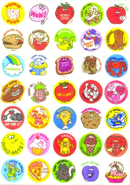 Smelly stickers.  :)~