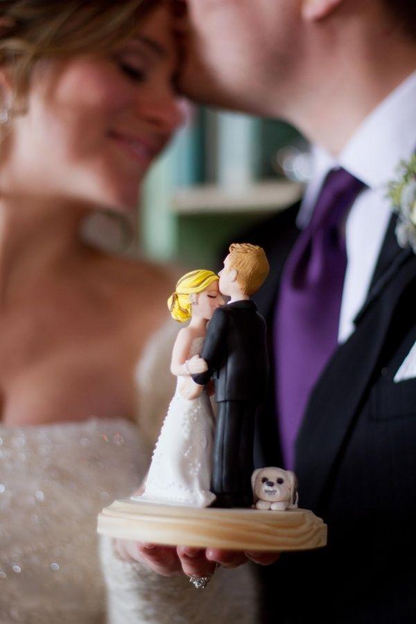 Ideas originales para las figuras de novios para el pastel de bodas