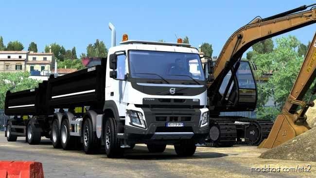 Download Volvo Fmx Kipper Rework By Mistersix V1 6 Mod For Euro Truck Simulator 2 At Modshost In 2020 Volvo Trucks Trailer Images